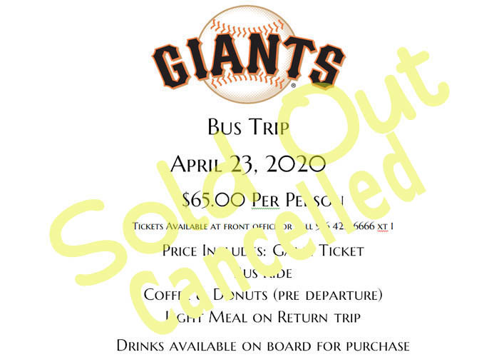Giants Bus Trip
